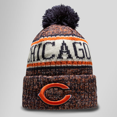 sports shoes 07163 9e6ed ... order new era nfl chicago bears sideline bobble knit hat 6f883 cccb7  cheap 47 ...