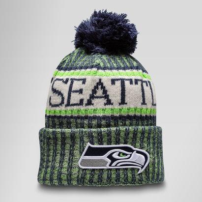 New Era NFL Seattle Seahawks Sideline Bobble Knit Hat