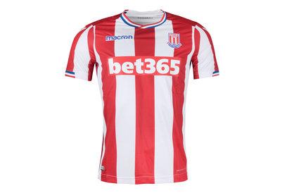 Macron Stoke City 17/18 Home S/S Football Shirt