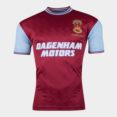 Score Draw West Ham United 1994 No6 Retro Football Shirt