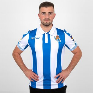 Macron Real Sociedad 18/19 Home S/S Football Shirt