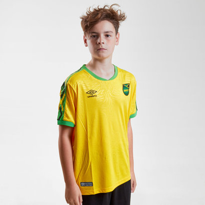 Umbro Jamaica 2018 Home Kids S/S Replica Football Shirt
