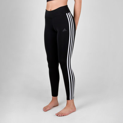 adidas D2M Ladies Climalite 3 Stripes 7/8 Tights