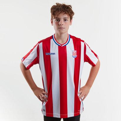 Macron Stoke City 17/18 Kids Home S/S Football Shirt