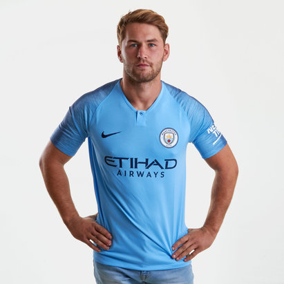 Nike Manchester City 18/19 Home S/S Replica Football Shirt