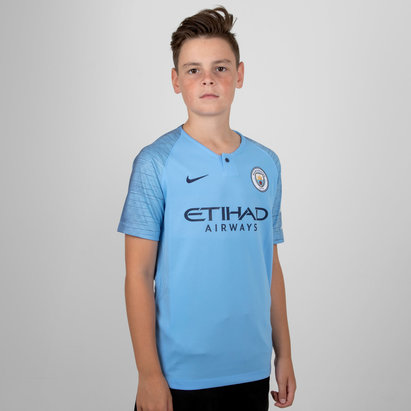 Nike Manchester City 18/19 Home Kids S/S Replica Football Shirt