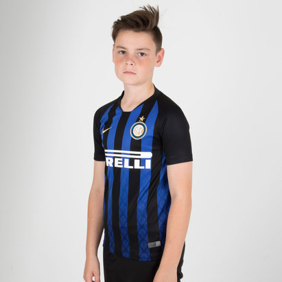 Nike Inter Milan 18/19 Home Kids S/S Replica Football Shirt