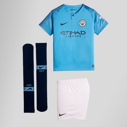 82ba019baf9 Nike Manchester City 18 19 Home Mini Kids Replica Football Kit