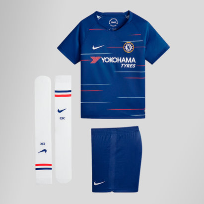 Nike Chelsea FC 18/19 Home Mini Kids Replica Football Kit