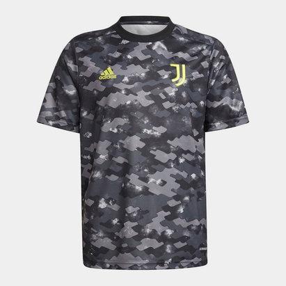 adidas Kids Juventus Pre Match Shirt 2021 2022