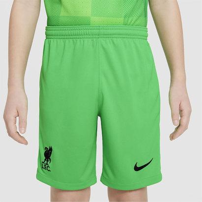 Nike Liverpool Home Goalkeeper Shorts 2021 2022 Junior
