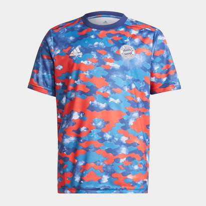 adidas Bayern Munich Pre Match Shirt 2021 2022 Junior