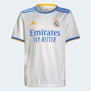 adidas Real Madrid Home Shirt 2021 2022 Junior