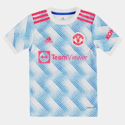 adidas Manchester United Away Shirt 2021 2022 Junior