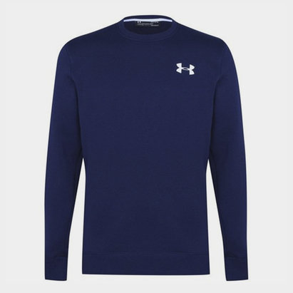 Under Armour Armour Rival Solid Fitted Sweatshirt Mens