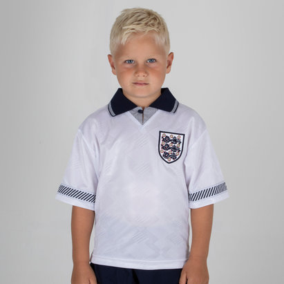 Score Draw England 1990 Kids World Cup Finals Retro Football Shirt