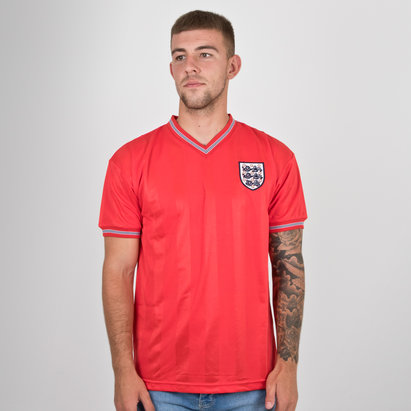 Score Draw England 1986 World Cup Finals Away Retro Football Shirt