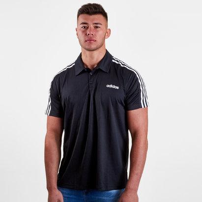 adidas D2M 3 Stripe Training Polo Shirt