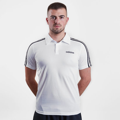 adidas D2M 3 Stripe Core Training Polo
