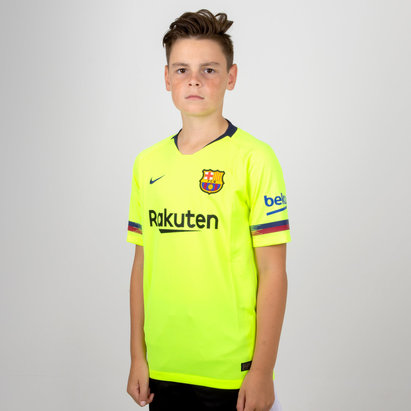 Nike FC Barcelona 18/19 Away Kids S/S Stadium Replica Football Shirt