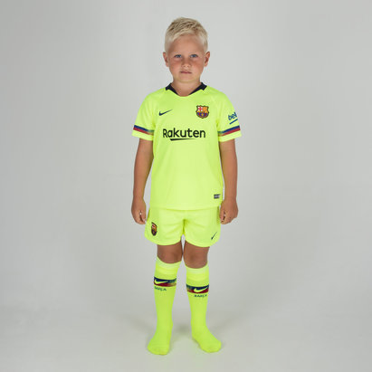 Nike FC Barcelona 18/19 Away Little Kids Football Kit