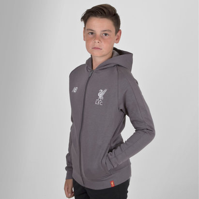 New Balance Liverpool FC 18/19 Kids Leisure Hooded Football Sweat