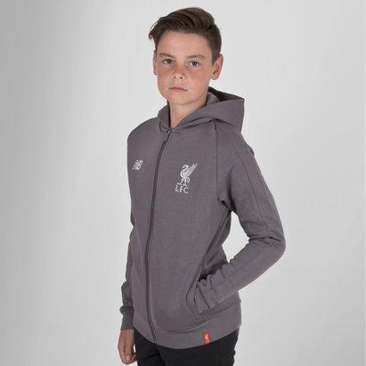 New Balance Liverpool FC 18/19 Kids Leisure Hooded Football Sweat