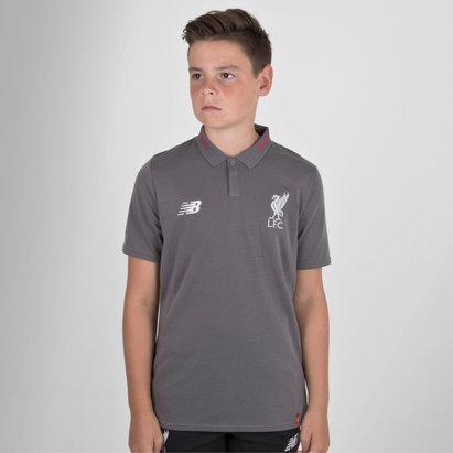 New Balance Liverpool FC 18 19 Kids Elite Leisure Football Polo Shirt 964f8b417