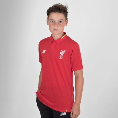 New Balance Liverpool FC 18/19 Kids Elite Leisure Football Polo Shirt