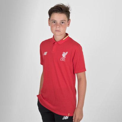 New Balance Liverpool FC 18/19 Kids Elite Leisure Football Polo Shirt