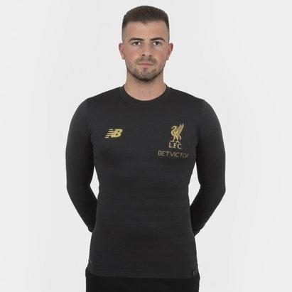 New Balance Liverpool FC 18/19 Managers L/S Seamless Football T-Shirt