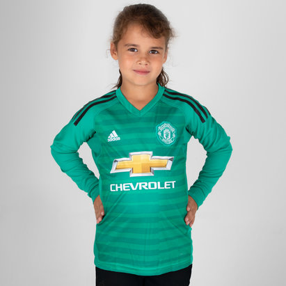 adidas Manchester United 18/19 Home L/S Kids Goalkeepers Shirt