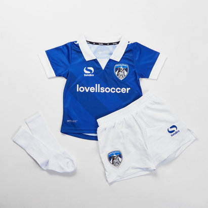 Sondico Oldham Athletic 18/19 Home Kids Mini Football Kit