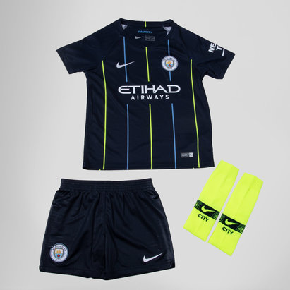 Nike Manchester City 18/19 Away Mini Kids Football Kit