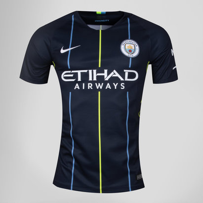 Nike Manchester City 18/19 Away Kids S/S Replica Football Shirt