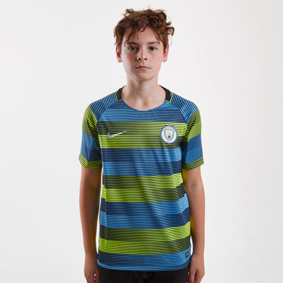 Nike Manchester City 18/19 Kids Dri Fit Squad Football Training Top