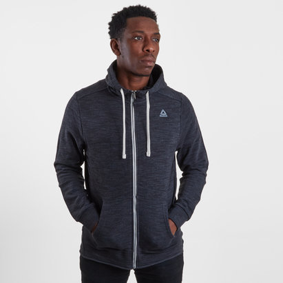 Reebok French Terry Marble Melange Full Zip Hooded Sweat