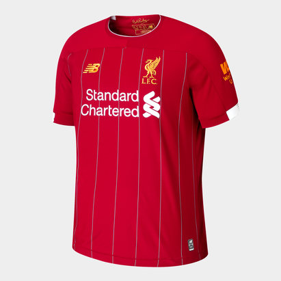 7f50e44e169 New Balance Liverpool FC 19 20 Kids Home S S Football Shirt