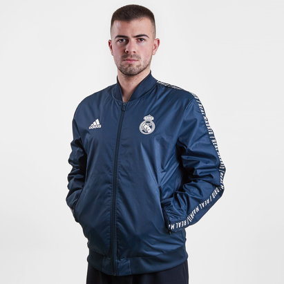 adidas Real Madrid 2019 Anthem Full Zip Football Jacket