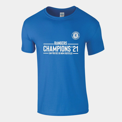 Team Rangers Champions T-Shirt Mens