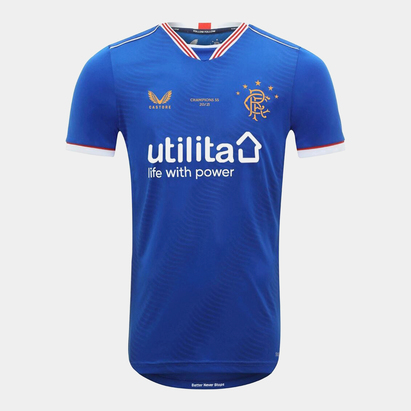 Castore Rangers Champions Home Shirt 2020 2021 Junior
