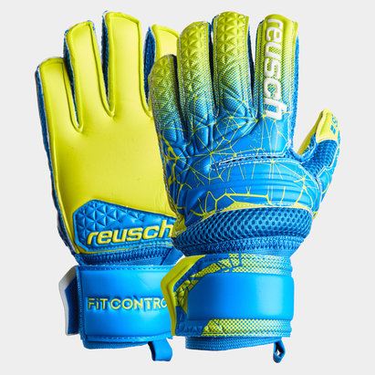 Reusch Fit Control SG Extra Finger Supports Kids Goalkeeper Gloves