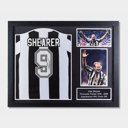 Newcastle United Alan Shearer 1996 Signed Framed Football Shirt