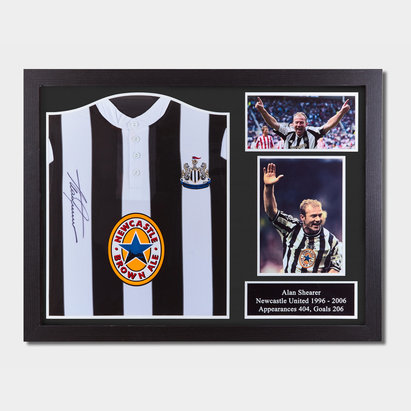 Newcastle United Alan Shearer 1996 Front Signed Framed Football Shirt