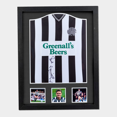 Newcastle United Paul Gascoigne 1985 Signed Framed Football Shirt