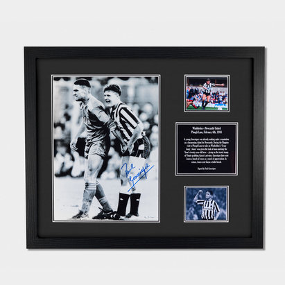 Newcastle United Paul Gascoigne 16x12 Signed Framed Photo
