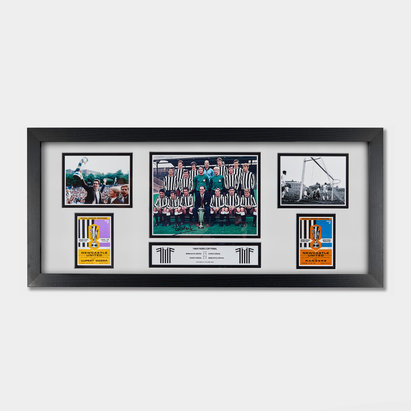 Newcastle United Bobby Moncur Signed Fairs Cup 1969 Framed Storyboard