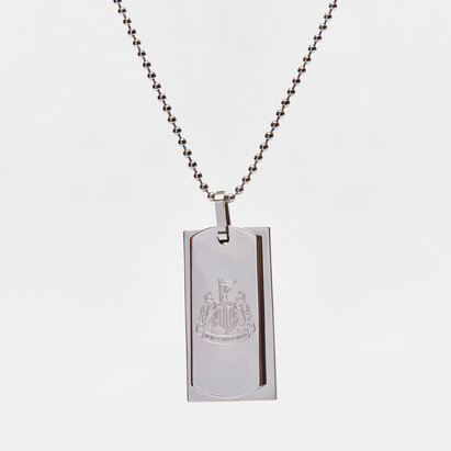 Newcastle United Stainless Steel Crest Double Dog Tag & Chain