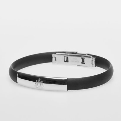 Newcastle United Stainless Steel Silicone Crest Bracelet