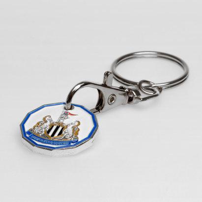 Newcastle United Crest Trolley Coin Keyring